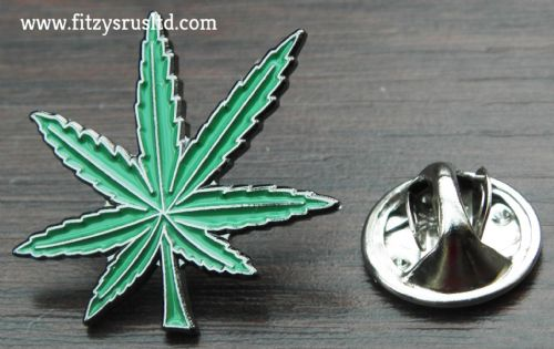 Cannabis Leaf Metal Lapel Hat Cap Tie Pin Badge Marijuana Weed Brooch Gift New